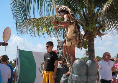 Beach performer at Costa Maya